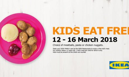 Kids Eat For FREE IKEA All-Day Promotion With Your Membership Card 12 – 16 Mar 2018
