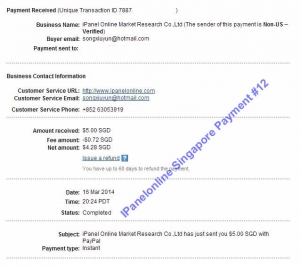 Ipanel Payment 12 16 March 2014
