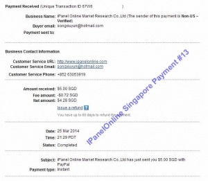 Ipanel Payment 13 25 March 2014
